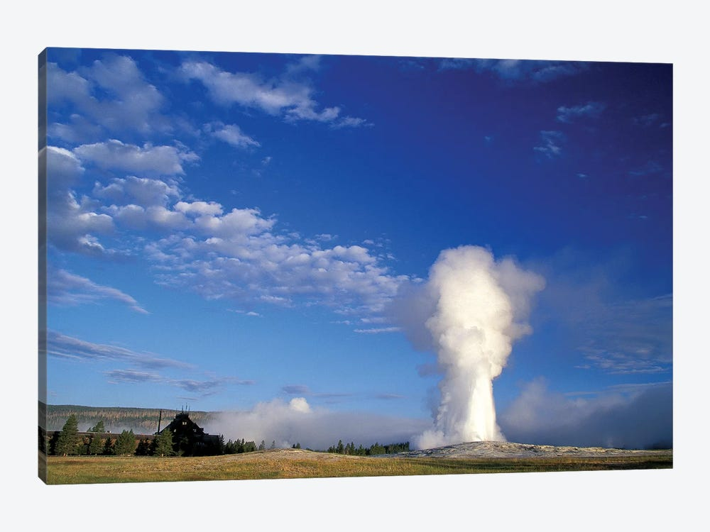 Eruption Blast, Old Faithful Geyser, Upper Geyser Basin, Yellowstone National Park, Wyoming, USA 1-piece Canvas Wall Art
