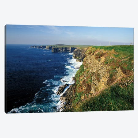 Ireland, County Clare. Kilbaha Bay, Loop Head Canvas Print #WSU4} by William Sutton Art Print