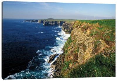 Ireland, County Clare. Kilbaha Bay, Loop Head Canvas Art Print