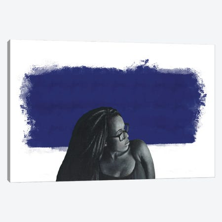 Blue Goddess Canvas Print #WTV10} by William Toliver Canvas Artwork