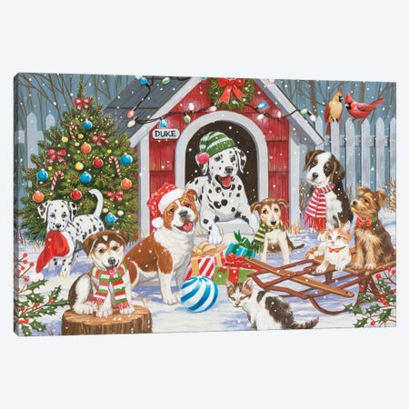 Christmas At Dukes House Canvas Print #WVD4} by William Vanderdasson Canvas Art