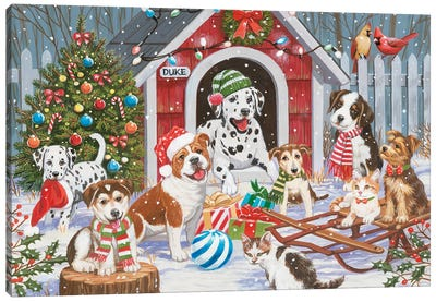 Christmas At Dukes House Canvas Art Print