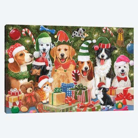 Baxter'S Christmas Bash Canvas Print #WVD7} by William Vanderdasson Canvas Art
