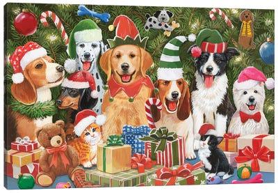 Baxter'S Christmas Bash Canvas Art Print
