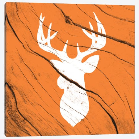 Hunting Deer Canvas Print #WWB11} by 5by5collective Canvas Wall Art