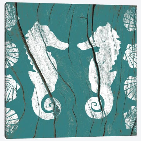 Sea Mates and Shells Canvas Print #WWB15} by 5by5collective Art Print