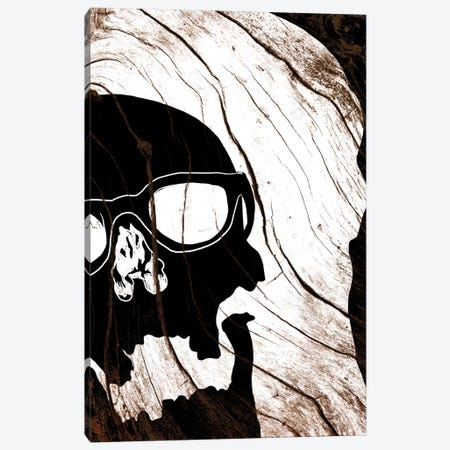 Hipster Skull Canvas Print #WWB45} by 5by5collective Canvas Wall Art