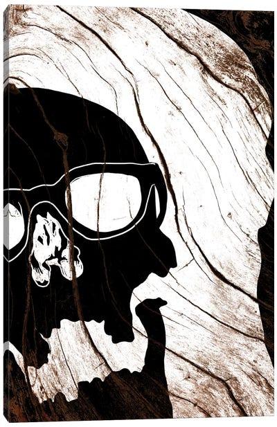 Hipster Skull Canvas Print #WWB45