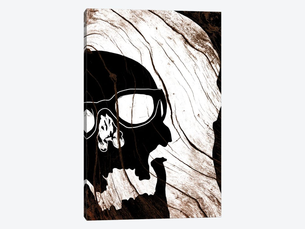 Hipster Skull by 5by5collective 1-piece Canvas Wall Art