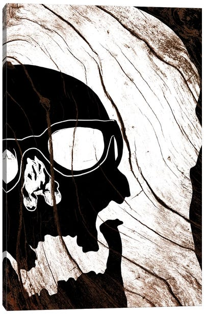 Hipster Skull Canvas Art Print