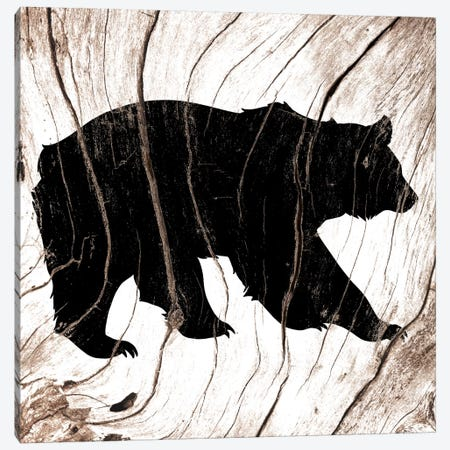 Black Bear Canvas Print #WWB4} by 5by5collective Art Print