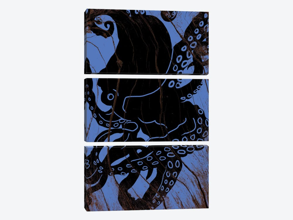 Lurking At Sea by 5by5collective 3-piece Canvas Art Print