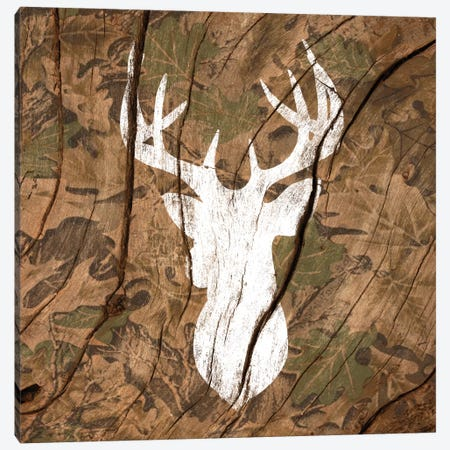 Camouflage Deer Canvas Print #WWB5} by 5by5collective Art Print