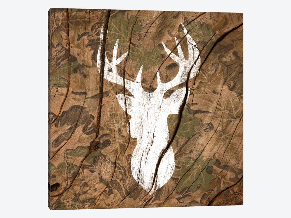 Camouflage Deer by 5by5collective 1-piece Canvas Art
