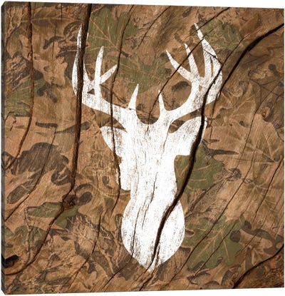 Camouflage Deer Canvas Art Print