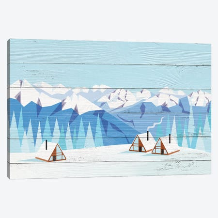 Arctic Gathering Canvas Print #WWO1} by 5by5collective Art Print