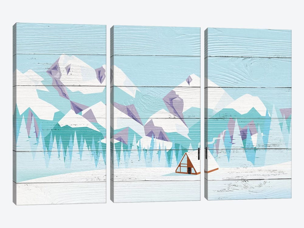 Pikes Peak by 5by5collective 3-piece Canvas Art