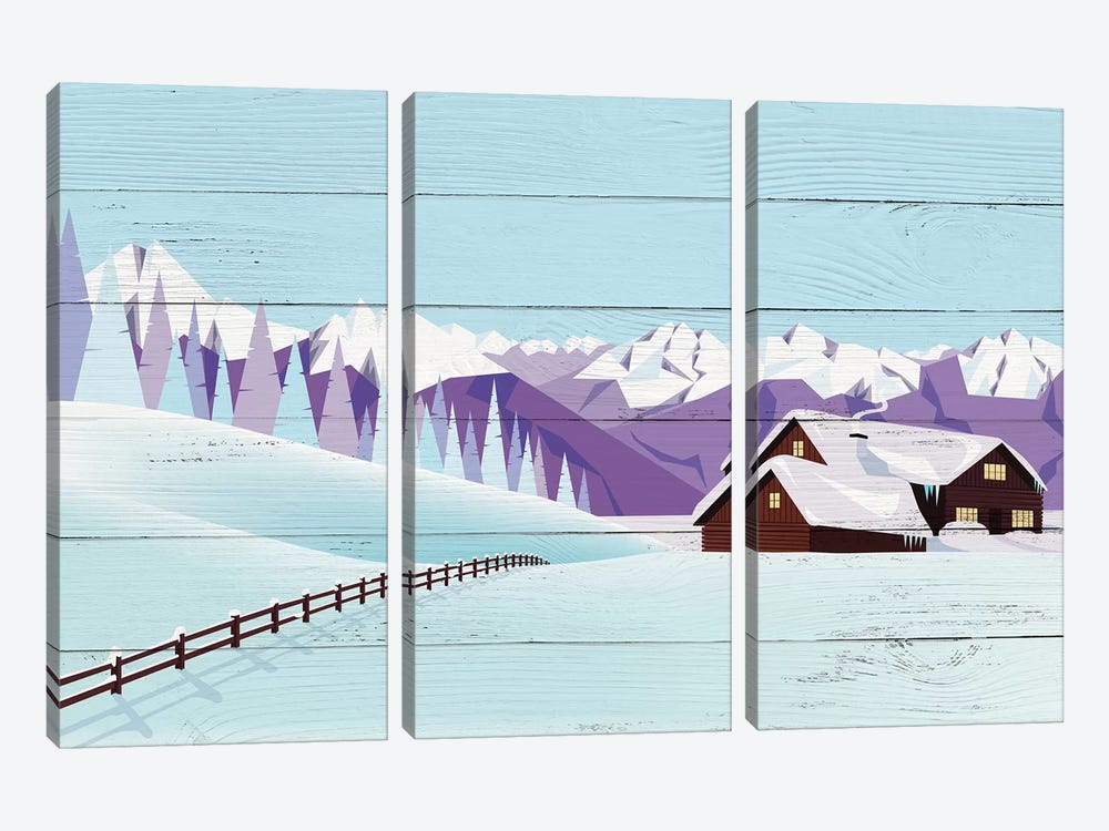Weekend Getaway by 5by5collective 3-piece Art Print