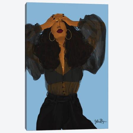 Monday Blues Canvas Print #WWS21} by Winnie Weston Canvas Art