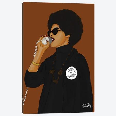 Black Power Canvas Print #WWS22} by Winnie Weston Canvas Wall Art