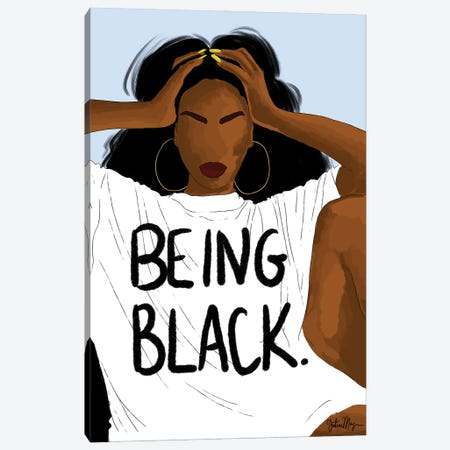Being Black Canvas Print #WWS30} by Winnie Weston Art Print