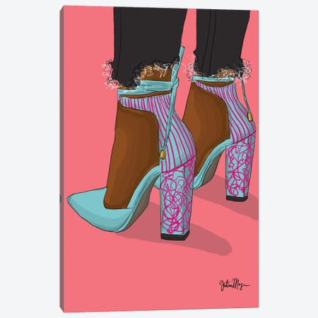 Pink & Blue Canvas Print #WWS42} by Winnie Weston Canvas Art