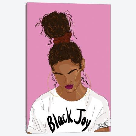 Black Joy Canvas Print #WWS50} by Winnie Weston Canvas Art Print