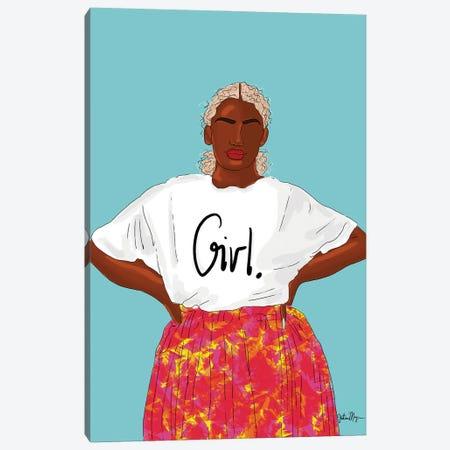 Girl, Just Keep Blooming Canvas Print #WWS8} by Winnie Weston Canvas Artwork
