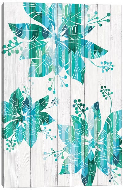 We Three Poinsettias Canvas Art Print