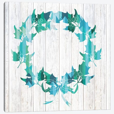 Wreath Of Holly Canvas Print #WWW13} by 5by5collective Canvas Print