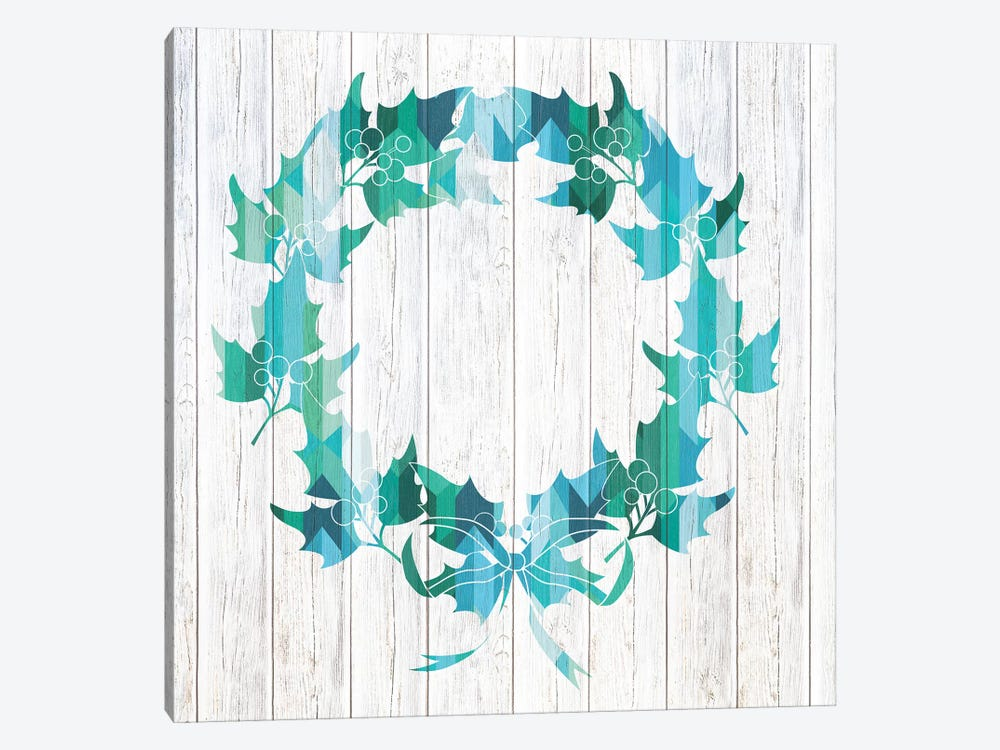 Wreath Of Holly 1-piece Canvas Art