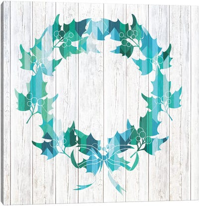 Wreath Of Holly Canvas Art Print
