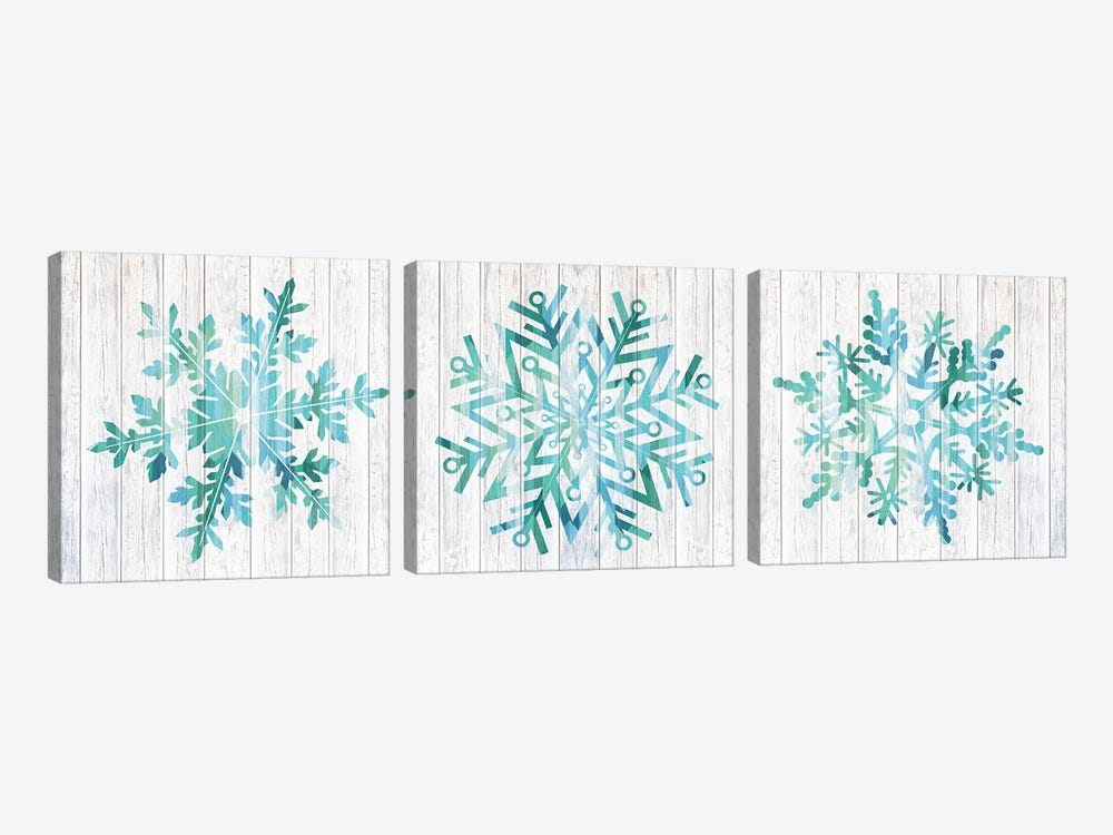 A Winter Blizzard by 5by5collective 3-piece Canvas Print