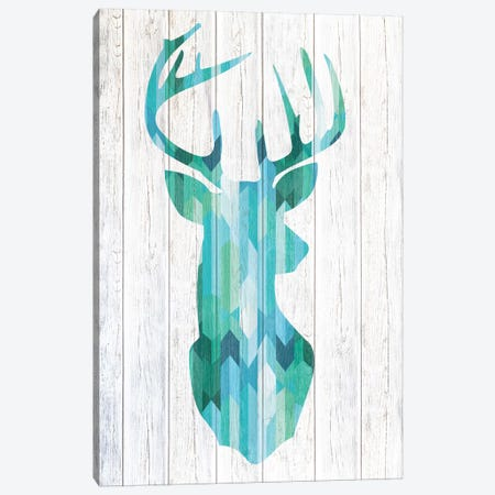 Blue Buck Canvas Print #WWW3} by 5by5collective Canvas Artwork