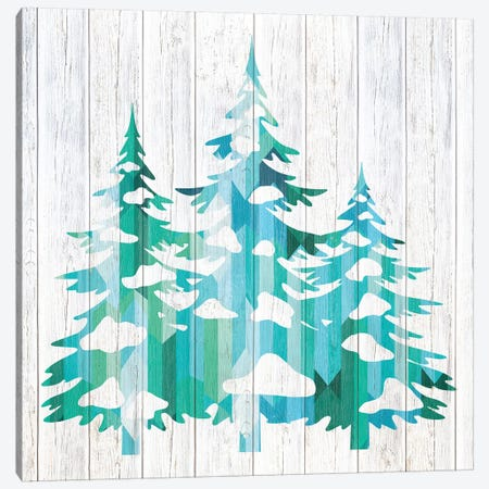 Snowfall Pines Canvas Print #WWW8} by 5by5collective Canvas Wall Art