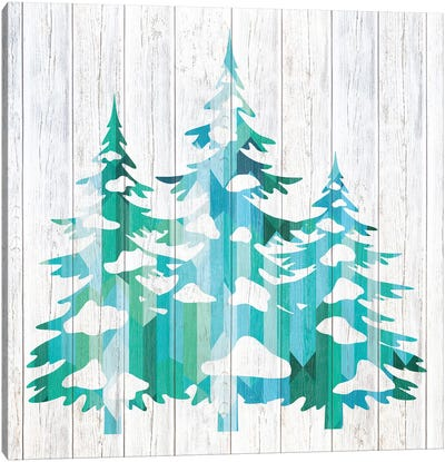 Snowfall Pines Canvas Art Print