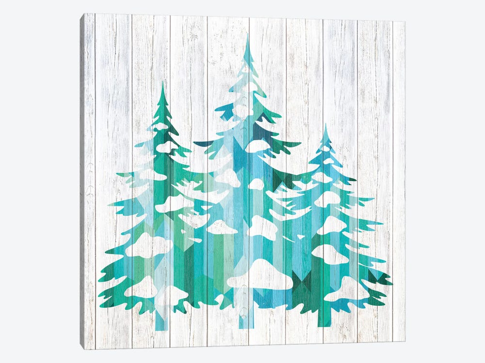 Snowfall Pines by 5by5collective 1-piece Canvas Art