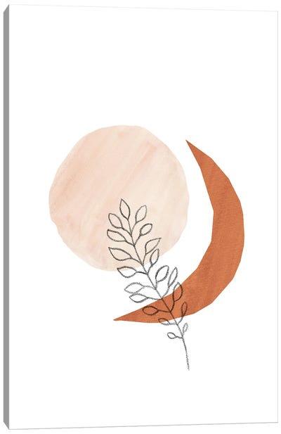 Sun Moon And Plant Canvas Art Print