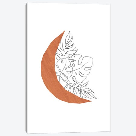 Floral Crescent Canvas Print #WWY103} by Whales Way Canvas Art