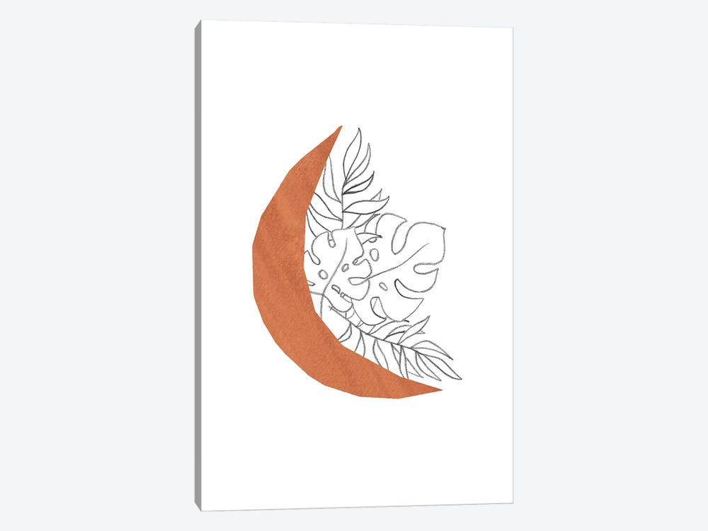 Floral Crescent by Whales Way 1-piece Art Print