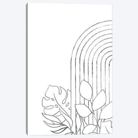 Botanical Line Art Canvas Print #WWY104} by Whales Way Art Print