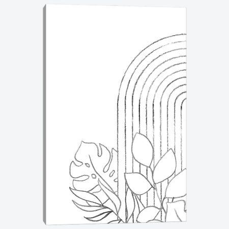Botanical Line Art Canvas Print #WWY104} by Whales Way Art Print