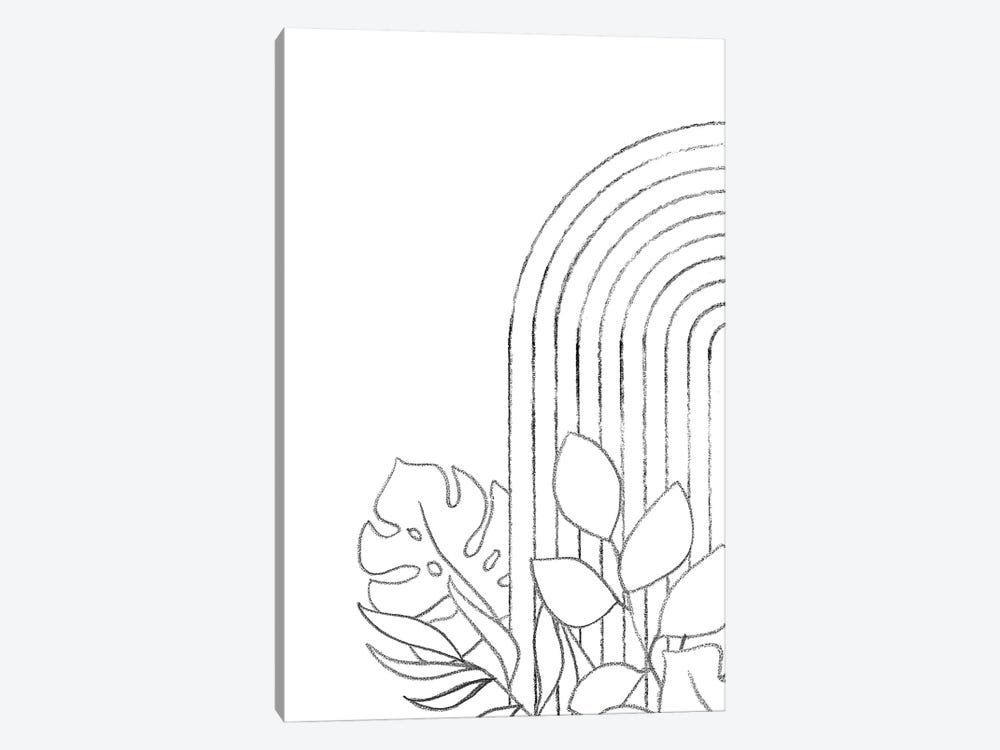 Botanical Line Art by Whales Way 1-piece Canvas Wall Art