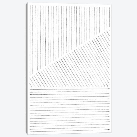 Abstract Geometric Lines Canvas Print #WWY105} by Whales Way Art Print