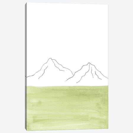 Minimal Green Landscape Canvas Print #WWY107} by Whales Way Canvas Print