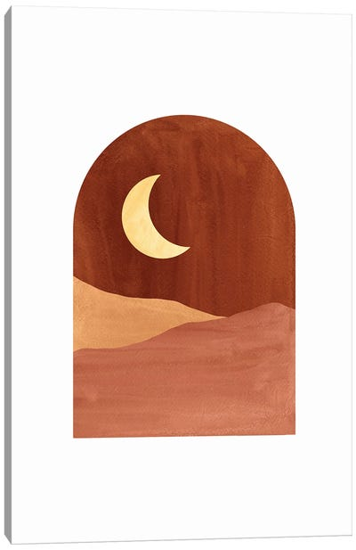 Terracotta Night Canvas Art Print
