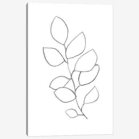 Botanical Minimal Line Art Canvas Print #WWY115} by Whales Way Canvas Art