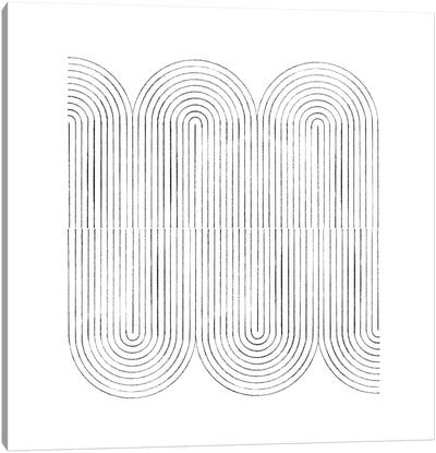 Mid Century Curved Lines Canvas Art Print
