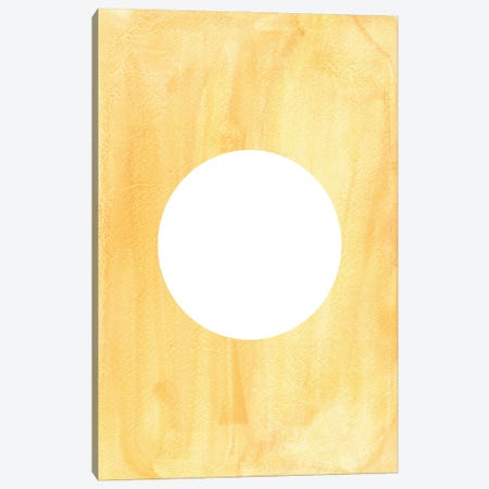 Mellow Yellow Sun Canvas Print #WWY118} by Whales Way Art Print