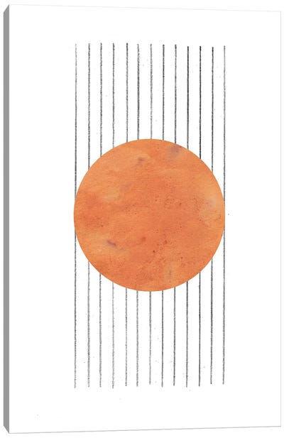 Burnt Orange Abstract Canvas Art Print